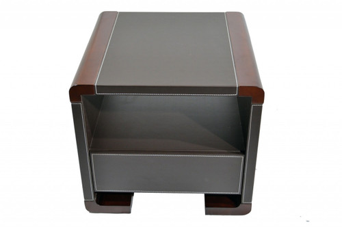 DANNI SIDE TABLE - DARK WALNUT / CHOCOLATE