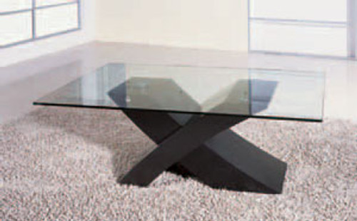 BARCELONA (G807) COFFEE TABLE -    1300(W) X 800(D) - BLACK OR BROWN