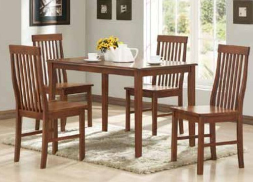 NORMAN 5 PIECE DINING SETTING (WITH TIMBER SEAT) - 1200(L) x 750(W) - ANTIQUE OAK