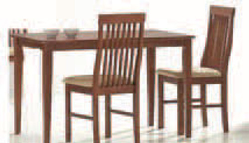 NORMAN 3 PIECE DINING SETTING (WITH TIMBER SEAT) - 900(L) x 600(W) - ANTIQUE OAK
