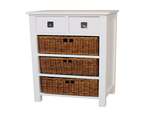 CANDI CANE COLLECTION CHEST OF 2+3  DRAWERS