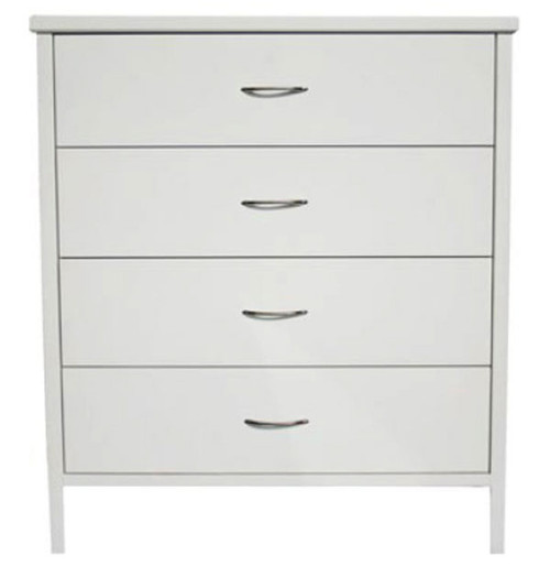 DALBY 4 DRAWER TALLBOY 1060(H) X 930(W) - WHITE OR DARK CHOCOLATE