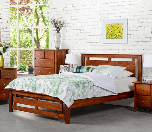 DOUBLE TANA BED - WALNUT