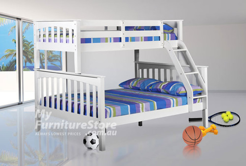 DESIREE (MODEL 19-1-18-1-8) TRIO BUNK BED - ALL WHITE