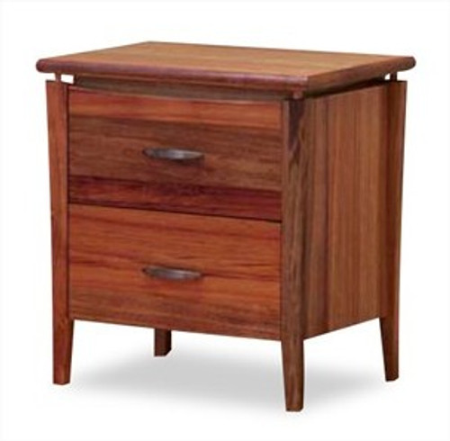 GLENDALE 2 DRAWER BEDSIDE - BLACKWOOD