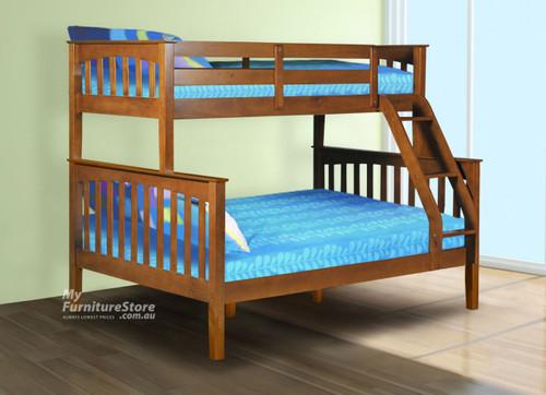 DESIREE TRIO BUNK BED (MODEL 19-1-18-1-8) - WALNUT