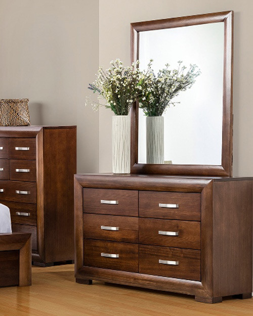 CAESAR DRESSING TABLE WITH MIRROR - 830(H) x 1380(W) -TASSIE OAK