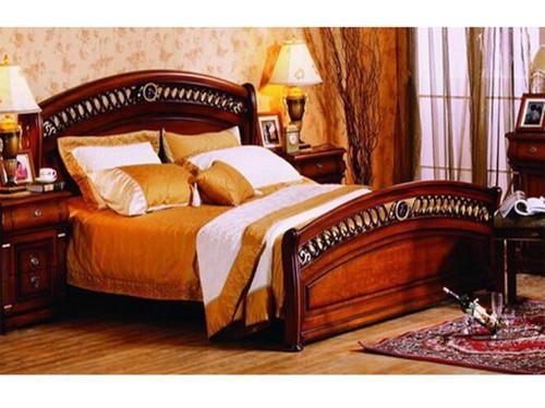 QUEEN BONAPARTE BED - AGED WALNUT