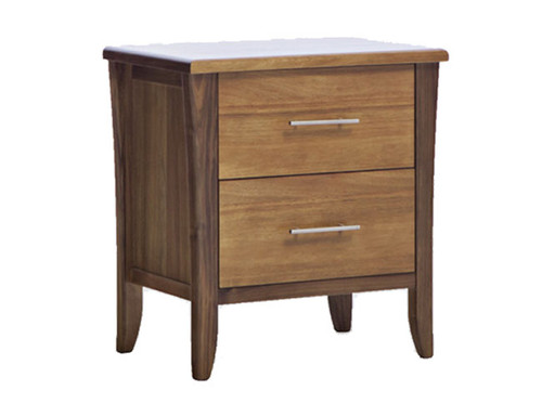 AVOCA 2 DRAWER BEDSIDE - AS PICTURED