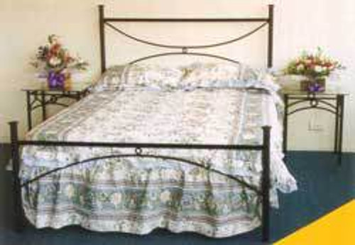 KING ARCH BED - BLACK , WHITE OR SILVER