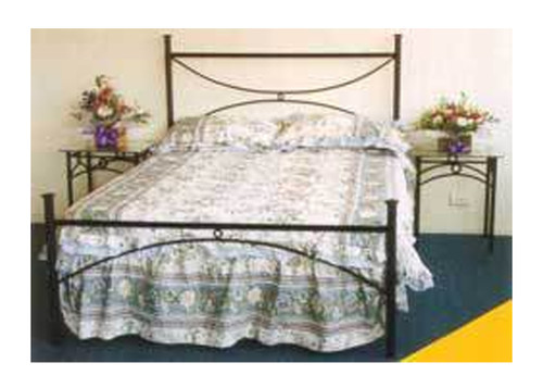 KING SINGLE ARCH BED - BLACK , WHITE OR SILVER