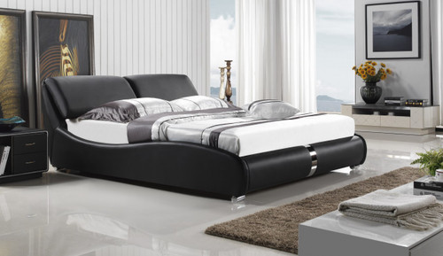 QUEEN CHARLOTTE LEATHERETTE BED (2222) - ASSORTED COLORS