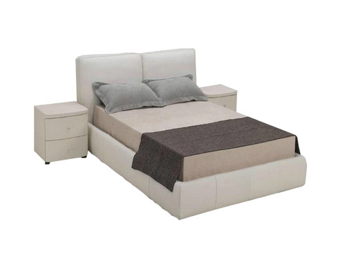 QUEEN POMERHAE LEATHERETTE BED (388) - ASSORTED COLORS