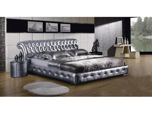 QUEEN ANNA SOPHIA LEATHERETTE  BED (3018) - ASSORTED COLORS