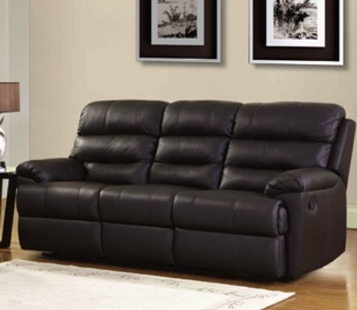 CARTER 2RR FULL LEATHER RECLINER SOFA (SEMI ANILINE) - (NOT AS PICTURED)