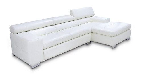 COCO 3 SEATER FULL LEATHER CHAISE