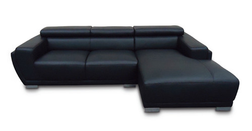 GINA 3 SEATER FULL LEATHER CHAISE