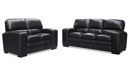 HARPER 3 SEATER + 2 SEATER FULL LEATHER LOUNGE