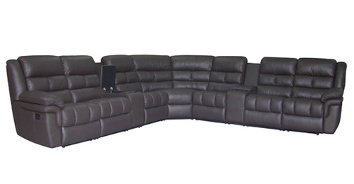 HOUDINI 7 SEAT CORNER 100% LEATHER 4 ACTION RECLINER SUITE - ASSORTED COLOURS