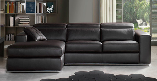 VICENZA 3 SEATER FULL LEATHER CHAISE (ITALIAN M1)