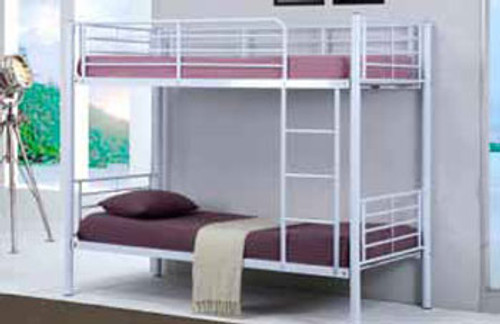 SINGLE SEATTLE BUNK BED - WHITE (AS PICTURED) OR BLACK