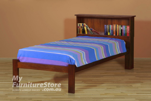 KING SINGLE BOOKEND BED (AUSSIE MADE) - ASSORTED COLOURS