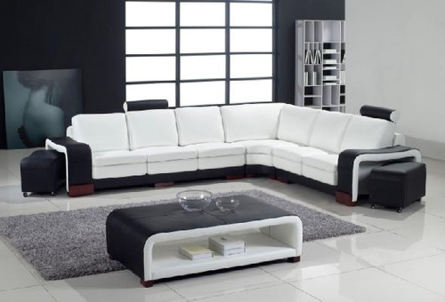 IMPERIAL (G1006) LEATHER/ETTE COMBINATION CORNER LOUNGE - ASSORTED COLOURS