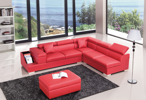 ELEGANT-II (G1070B) LEATHER/ETTE COMBINATION CORNER LOUNGE - ASSORTED COLOURS