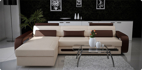 COBAIN (G1019B) 2 SEATER LEATHER/ETTE COMBINATION LOUNGE - ASSORTED COLOURS