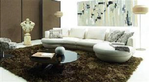CADENCE (F2062) 2 SEATER + 1 SEATER LEATHER/ETTE COMBINATION CHAISE LOUNGE SUITE- ASSORTED COLOURS