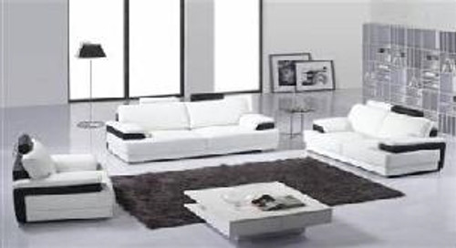 LUCIANA (F6004) 1 SEATER + 2 SEATER + 3 SEATER LEATHER/ETTE COMBINATION LOUNGE SUITE - ASSORTED COLOURS