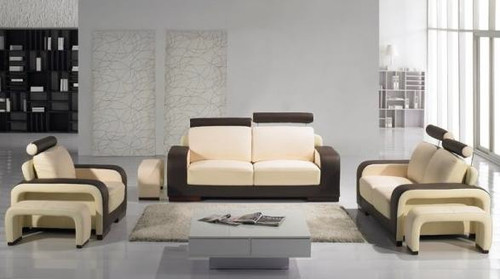 ALYSHA (F6007) 1 SEATER + 2 SEATER + 3 SEATER LEATHER/ETTE COMBINATION LOUNGE SUITE - ASSORTED COLOURS