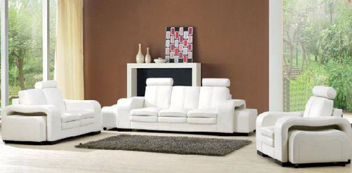 ALYSHA-II (F6007D) 1 SEATER + 2 SEATER + 3 SEATER LEATHER/ETTE COMBINATION LOUNGE SUITE - ASSORTED COLOURS