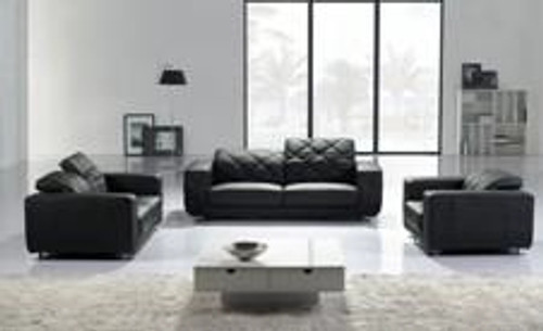 ALEXANDRA (F6008) 1 SEATER + 2 SEATER + 3 SEATER LEATHER/ETTE COMBINATION LOUNGE SUITE - ASSORTED COLOURS