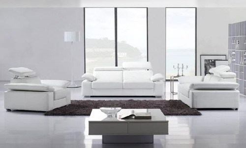 MELAINE (F6022) 1 SEATER + 2 SEATER + 3 SEATER LEATHER/ETTE COMBINATION LOUNGE SUITE - ASSORTED COLOURS
