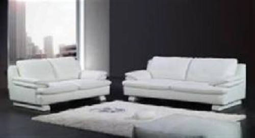 FILIA (F6023) 1 SEATER + 2 SEATER + 3 SEATER LEATHER/ETTE COMBINATION LOUNGE SUITE - ASSORTED COLOURS