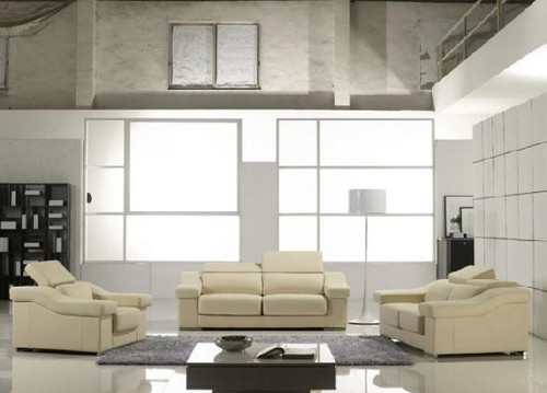 CORINNE (F6036) 1 SEATER + 2 SEATER + 3 SEATER LEATHER/ETTE COMBINATION LOUNGE SUITE - ASSORTED COLOURS