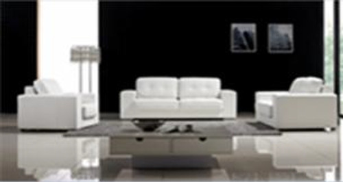 CLAUDINE (F6052) 1 SEATER + 2 SEATER + 3 SEATER LEATHER/ETTE COMBINATION LOUNGE SUITE - ASSORTED COLOURS