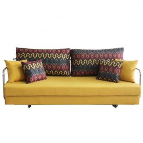 SAVANNAH FABRIC CLICK CLACK SOFA BED - YELLOW