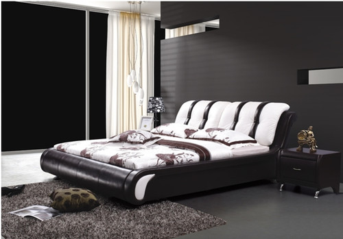 KING ASPEN LEATHERETTE BED (A8161) - ASSORTED COLOURS