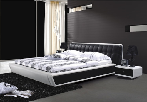 QUEEN PIERRE-MARIE LEATHERETTE BED (A8175) - ASSORTED COLOURS
