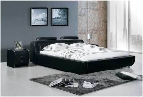 QUEEN SEAN ELI LEATHERETTE BED (A8206) - ASSORTED COLOURS