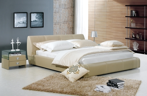 KING ANTOINE LOUIS LEATHERETTE BED (A9005) - ASSORTED COLOURS