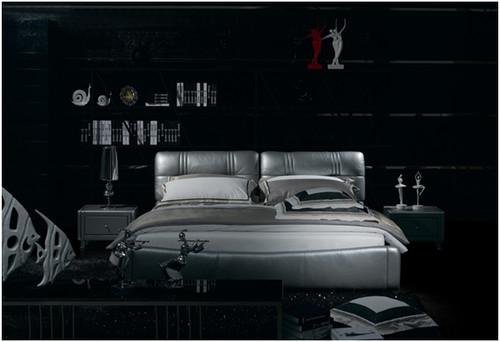 CLAUDE DOMINIQUE QUEEN 3 PIECE BEDSIDE BEDROOM SUITE WITH (#122 BEDSIDES) - LEATHERETTE - ASSORTED COLOURS