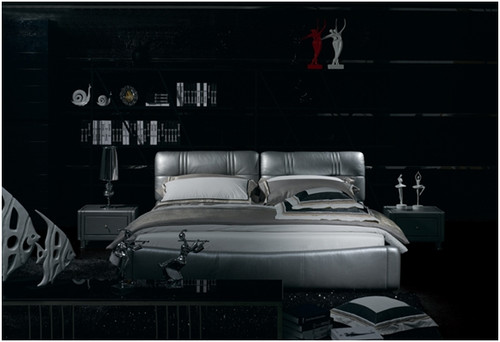CLAUDE DOMINIQUE QUEEN 3 PIECE BEDSIDE BEDROOM SUITE WITH (#122 BEDSIDES) - LEATHERETTE - ASSORTED COLOURS