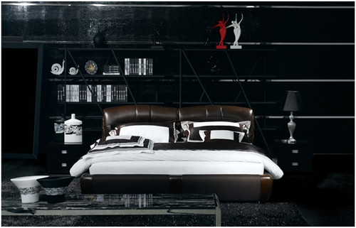 KING FREDERICK LEATHERETTE BED (A9013) - ASSORTED COLOURS