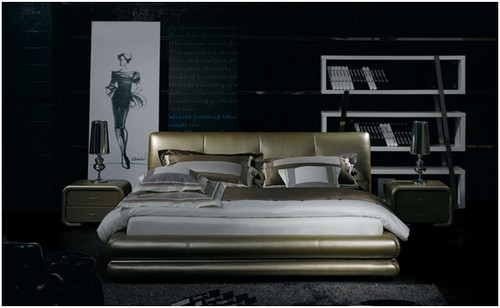KING LAMBERT LEATHERETTE BED (A9015) - ASSORTED COLOURS