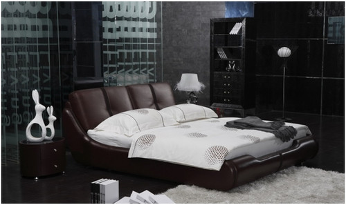 KING WILLIAM LEATHERETTE BED (A9019) - ASSORTED COLOURS