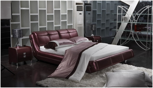 KING ZIGMUND LEATHERETTE BED (A9022) - ASSORTED COLOURS