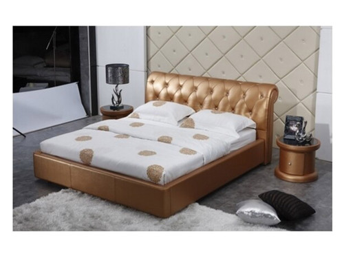 QUEEN LANSLEBOURG LEATHERETTE BED (A9026) - ASSORTED COLOURS